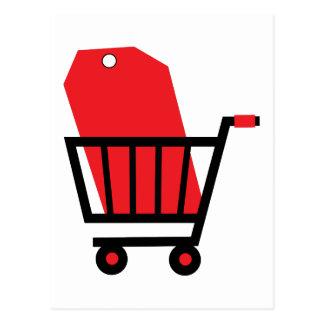 Shopping Cart Post Card