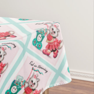 "SHOPPING CAT 2 Tablecloth COLOR LIPS 60""x104"""