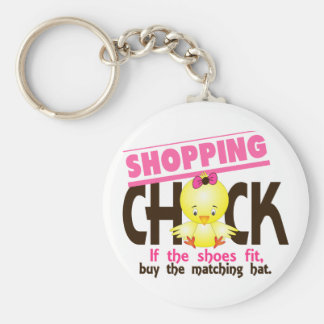 Shopping Chick 1 Keychains