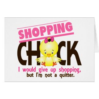 Shopping Chick 2 Greeting Card