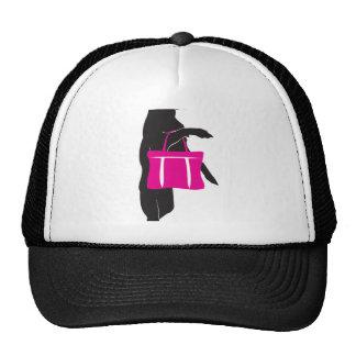 Shopping Chihuahua with Handbag Silhouette Mesh Hats