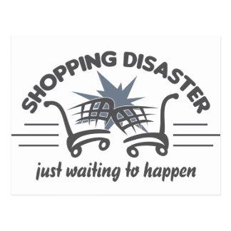 Shopping Disaster postcard, customize Postcard