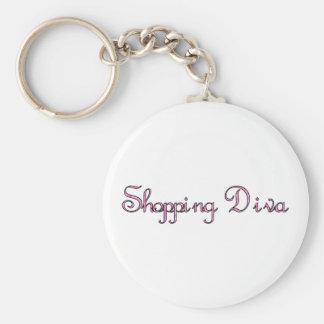 Shopping Diva Key Ring