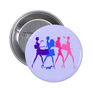 Shopping Divas 6 Cm Round Badge