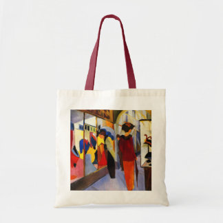"Shopping - ""Fashion Shop"" by August Macke Budget Tote Bag"
