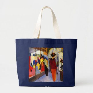 "Shopping - ""Fashion Shop"" by August Macke Jumbo Tote Bag"