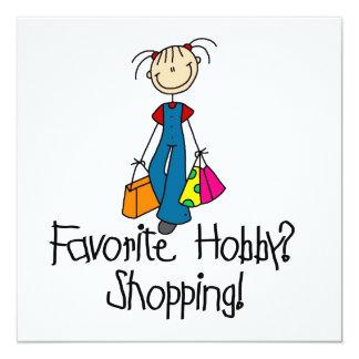 Shopping Favorite Hobby 13 Cm X 13 Cm Square Invitation Card