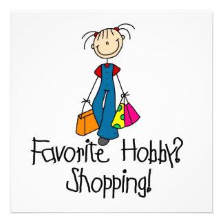 Shopping Favorite Hobby Invites