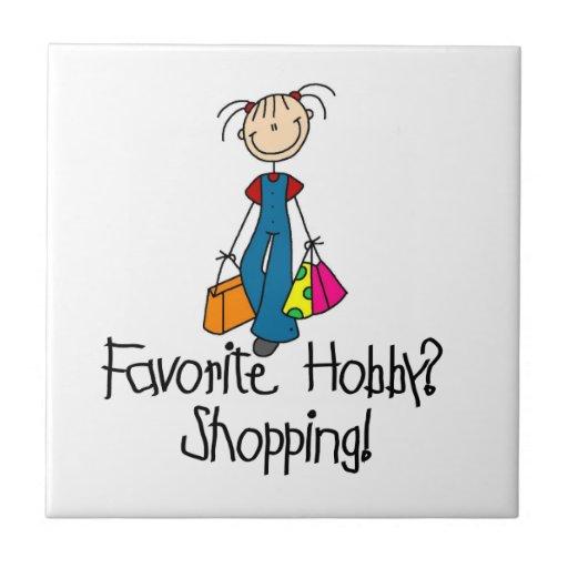 Shopping Favorite Hobby Tiles