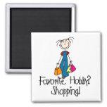 Shopping Favourite Hobby Magnet