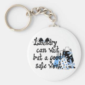 Shopping Fun Basic Round Button Key Ring