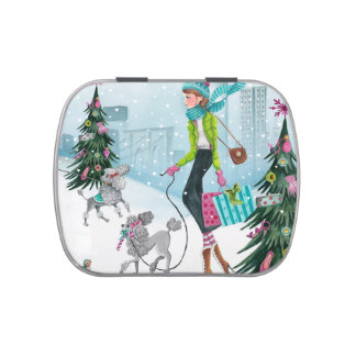Shopping Girl in New York | Candy tin