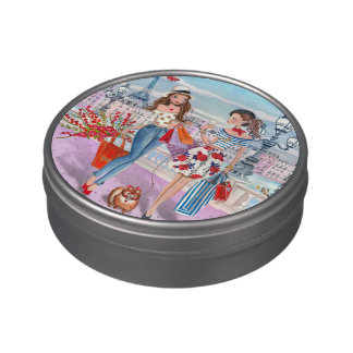 Shopping girls in Paris | Jelly Belly™ Beans Tin Jelly Belly Tins