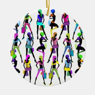 Shopping Glamour Girls Christmas Ornament