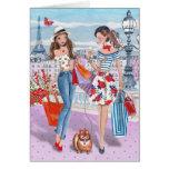 Shopping in Paris Girls | Birthday Card