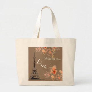 Shopping in  Paris GraphicFloral  Bag