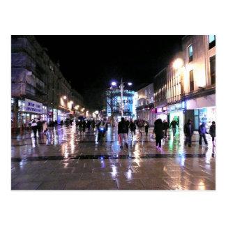 Shopping in the Rain Postcard