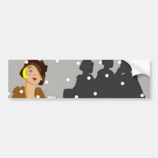 Shopping in the Snow Bumper Sticker