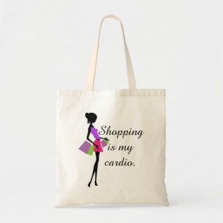 Shopping is My Cardio Fun and Humor Budget Tote Bag