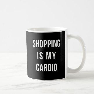 Shopping Is My Cardio on Black Mug
