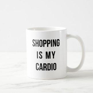 Shopping Is My Cardio on White Coffee Mug