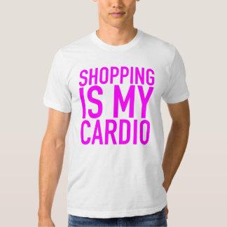 Shopping is my cardio. t-shirt