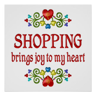 Shopping Joy Posters