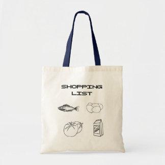 SHOPPING LIST BAGS