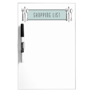 Shopping List Dry Erase Board