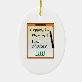 Shopping List expert list maker Christmas Ornament