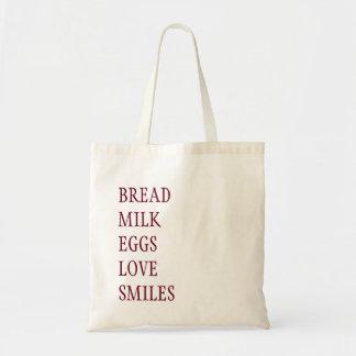 SHOPPING LIST GROCERY BAG