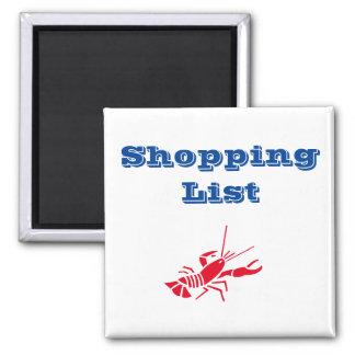 Shopping List Lobster Magnet