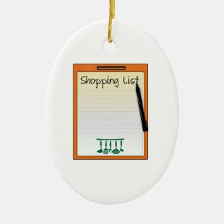 Shopping List Ornament