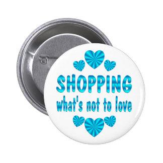 SHOPPING LOVE 6 CM ROUND BADGE