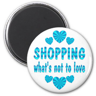 SHOPPING LOVE 6 CM ROUND MAGNET