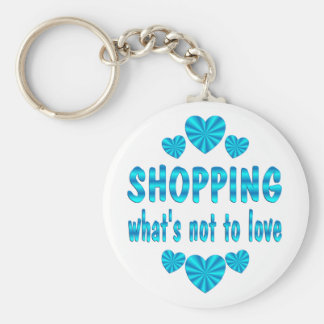 SHOPPING LOVE BASIC ROUND BUTTON KEY RING
