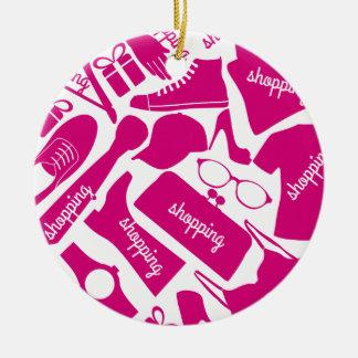 Shopping love christmas ornament