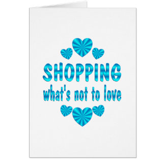 SHOPPING LOVE GREETING CARD