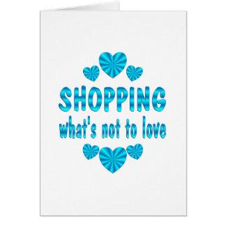 SHOPPING LOVE GREETING CARD