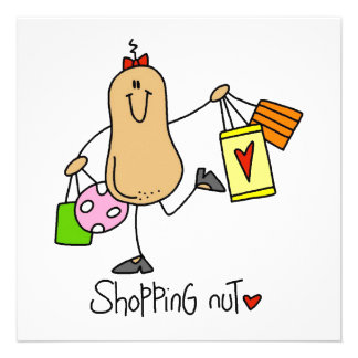 Shopping Nut T-shirts and Gifts Invites