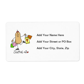 Shopping Nut T-shirts and Gifts Shipping Label