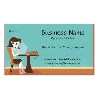 Shopping Online/Laptop Business Cards