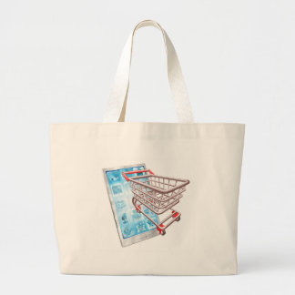 Shopping phone app concept bags