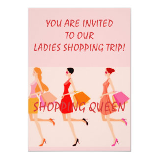 "SHOPPING QUEEN COLLECTION 5"" X 7"" INVITATION CARD"