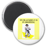 shopping queen humour 6 cm round magnet