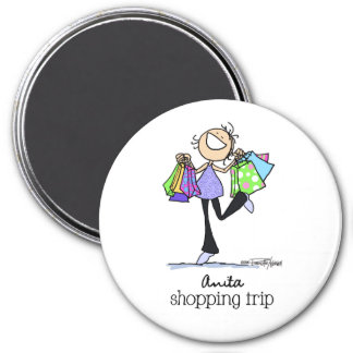 Shopping Sale Lady 7.5 Cm Round Magnet