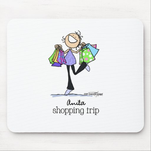 Shopping Sale Lady Mousepad