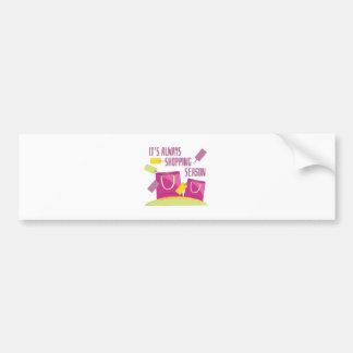Shopping Season Bumper Sticker