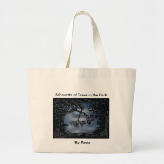 Shopping! Silhouette of Trees in the Dark By Rena Bag