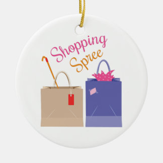 Shopping Spree Christmas Ornament